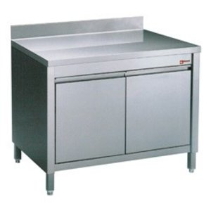 Diamond Stainless Steel Cupboard with 2 Swing doors + Splash-Rand | 600x700x (H) 900mm