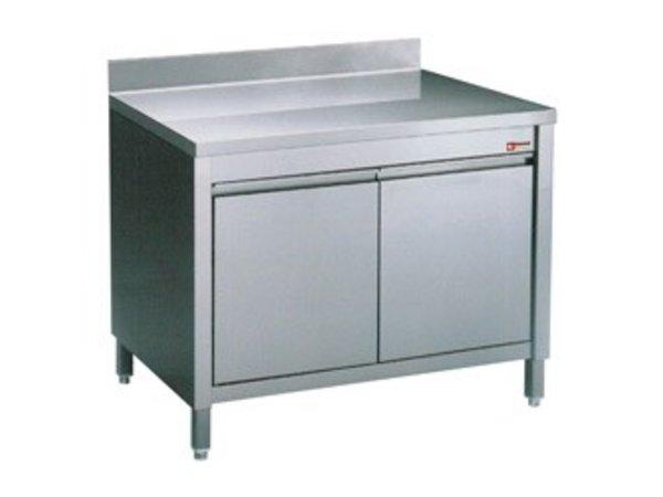 Diamond Werkkast met 2 Klapdeuren + Spatrand |  800x700x(h)900mm