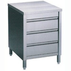 Diamond Stainless Steel Cupboard with 3 Drawers | 600x700x (H) 900mm