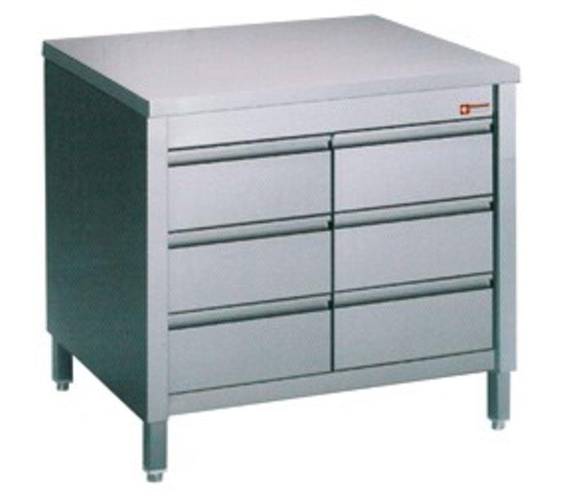diamond edelstahl schrank mit 6 1 1 gn loading 800x700x h 900mm. Black Bedroom Furniture Sets. Home Design Ideas