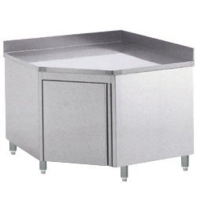 Diamond Wall Corner cabinet with folding door 1000x1000x900 (h) backsplash