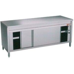 Diamond Edelstahl-Schrank mit 2 Türen | erhitzt | 1400x700x (H) 900mm