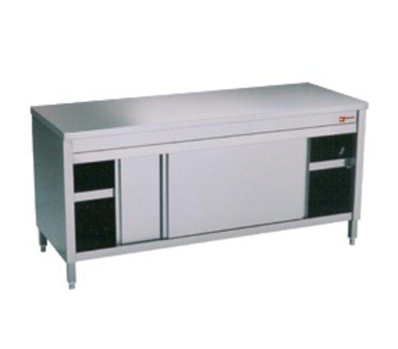 Diamond Edelstahl-Schrank mit 2 Türen | erhitzt | 1600x700x (H) 900mm