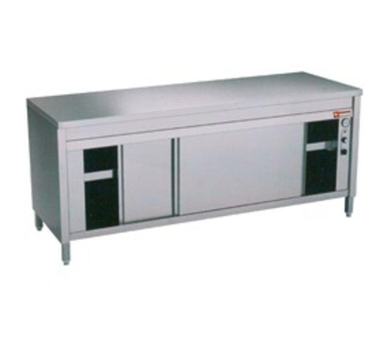 Diamond Edelstahl-Schrank mit 2 Türen | erhitzt | 1800x700x (H) 900mm