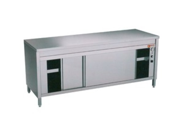 Diamond Stainless Steel Cupboard with 2 Doors | heated | 2000x700x (H) 900mm