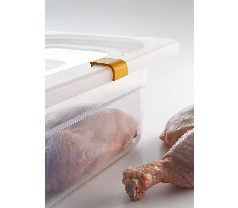 Hendi Auf Box PP-Kunststoff GN 1/2 200 mm + Deckel und 4 Clips