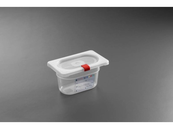 Hendi Stock Box PP plastic GN 1/9 100 mm + lid and 4 clips