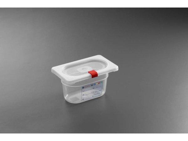 Hendi Voorraaddoos plastic PP GN 1/9 100 mm + deksel en 4 clips