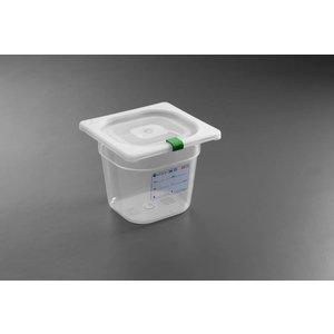 Hendi Auf Box PP-Kunststoff GN 1/6 100 mm + Deckel und 4 Clips