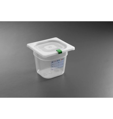 Hendi Stock Box PP plastic GN 1/6 100 mm + lid and 4 clips