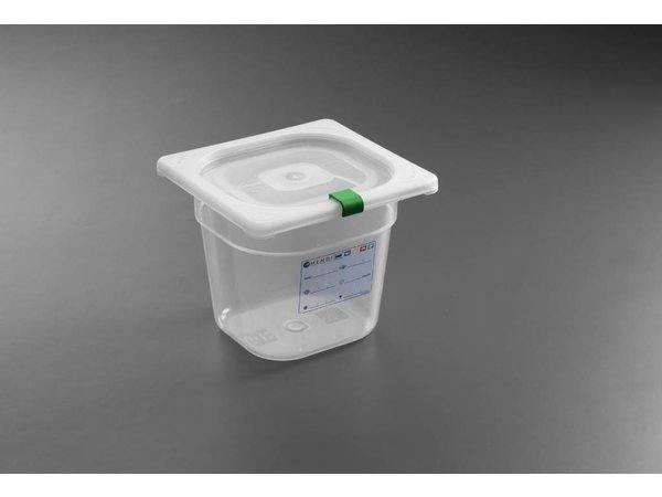 Hendi Auf Box PP-Kunststoff GN 1/6 200 mm + Deckel und 4 Clips