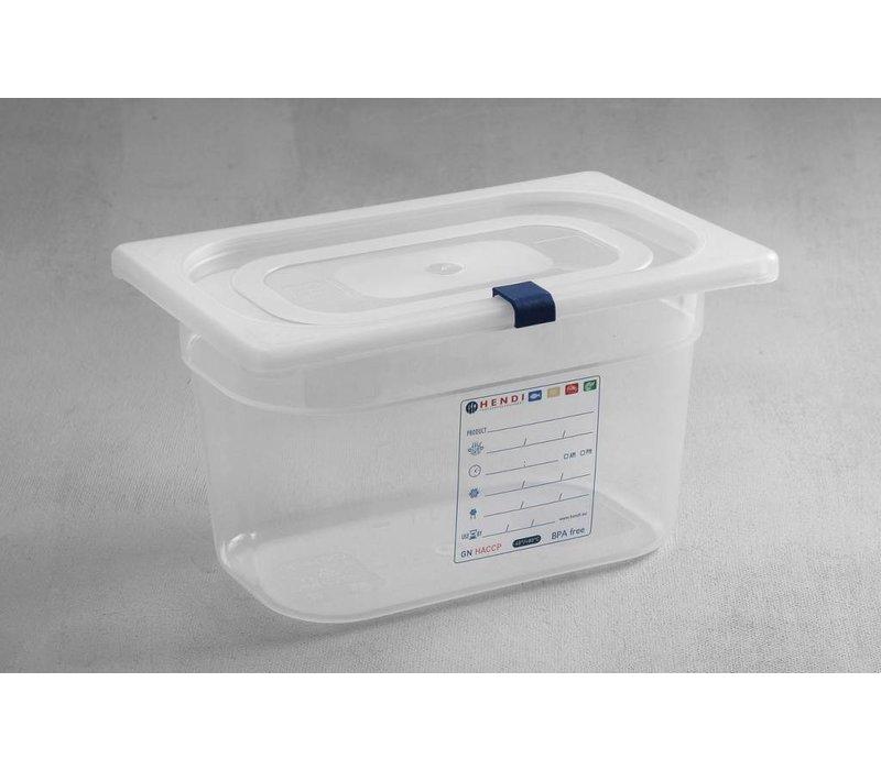 Hendi Auf Box PP-Kunststoff GN 1/4 100 mm + Deckel und 4 Clips