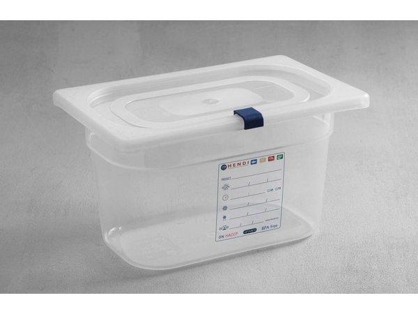 Hendi Auf Box PP-Kunststoff GN 1/4 200 mm + Deckel und 4 Clips