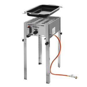 Hendi Gas Barbecue Hendi 154 700 Grillmaster Mini | Propane BBQ | Complete with accessories
