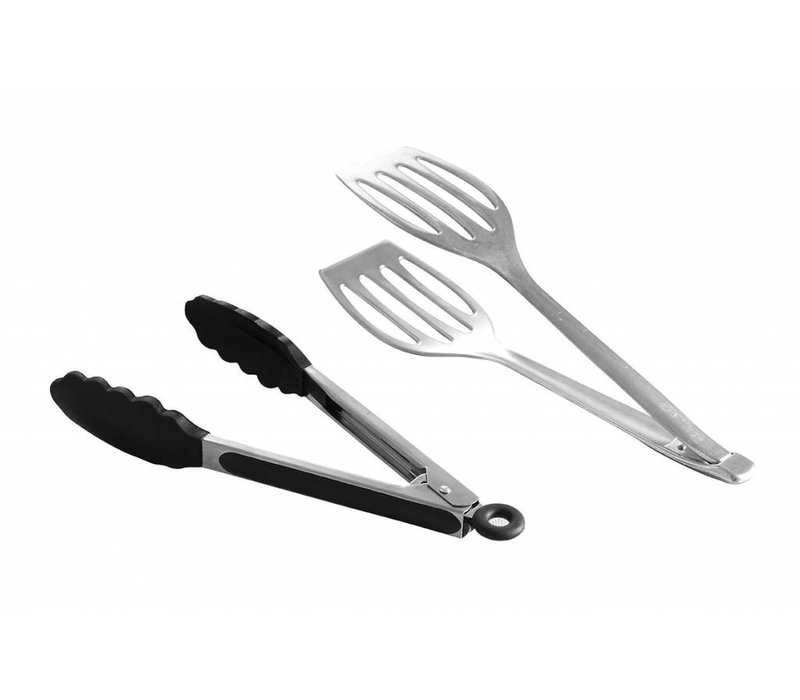 Hendi Tongs soft grip | Heat Resistant Silicone with Bek | (L) 240mm