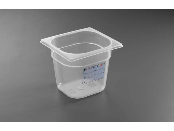 Hendi Voorraaddoos plastic PP GN 1/6 150 mm
