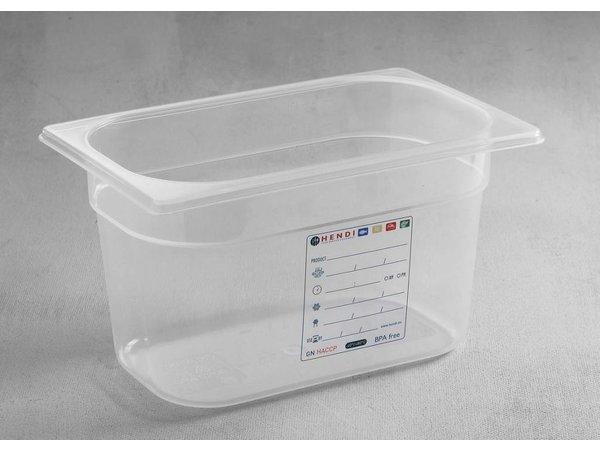Hendi Voorraaddoos plastic PP GN 1/4 100 mm