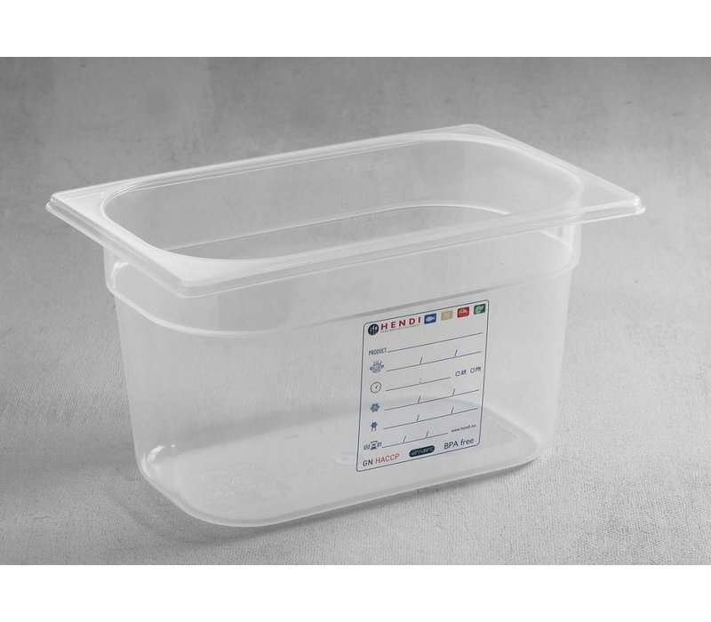 Hendi PP plastic food storage containers GN 1/4 100mm