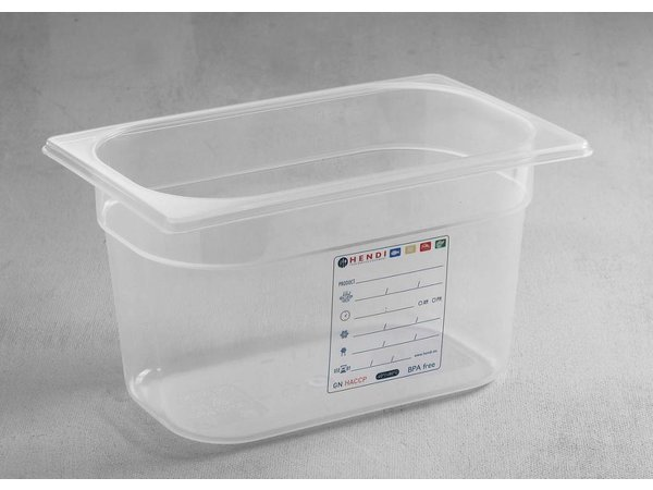 Hendi Voorraaddoos plastic PP GN 1/4 200 mm