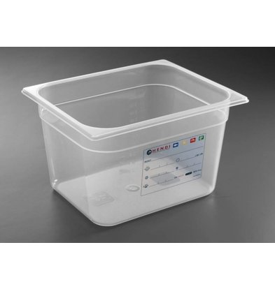 Hendi Stock Box PP plastic GN 1/2 150 mm