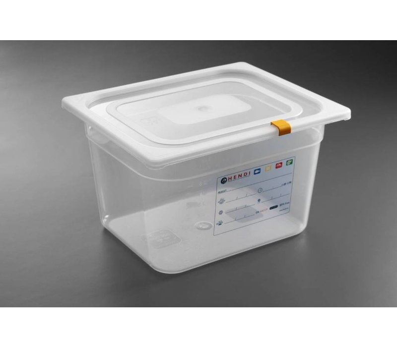 Hendi Auf Box PP-Kunststoff GN 1/2 150 mm