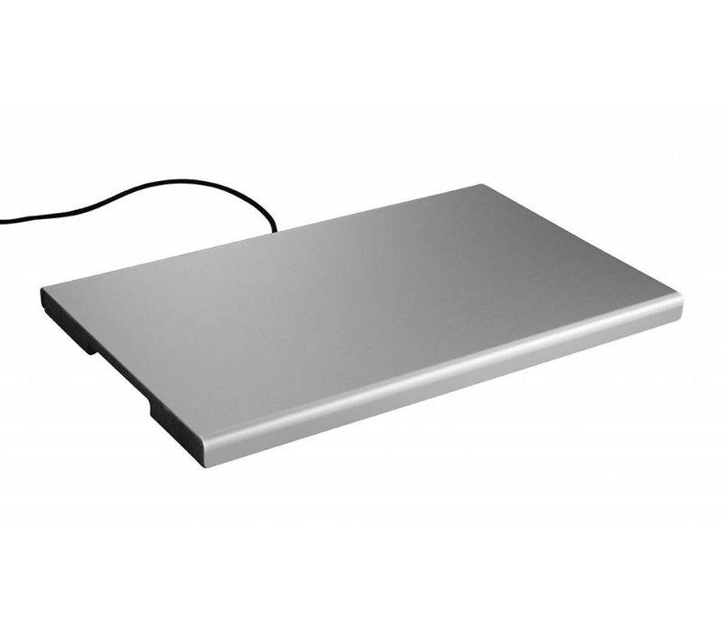 Hendi Elektrische Kochplatte - Aluminium - GN 1/1 - 53x33x2,5cm