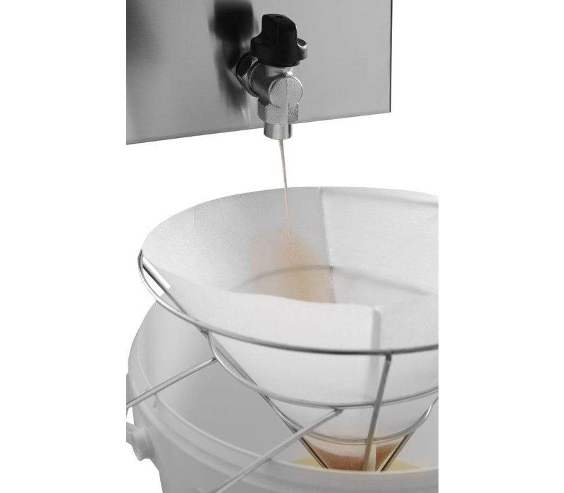Hendi Vetfilterhouder | Stainless steel | Ø250x (H) 200mm