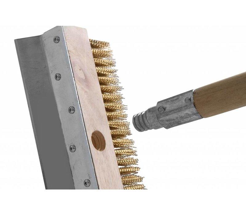 Hendi Reinigings borstel 250x1030 mm - messing houten houder + steel