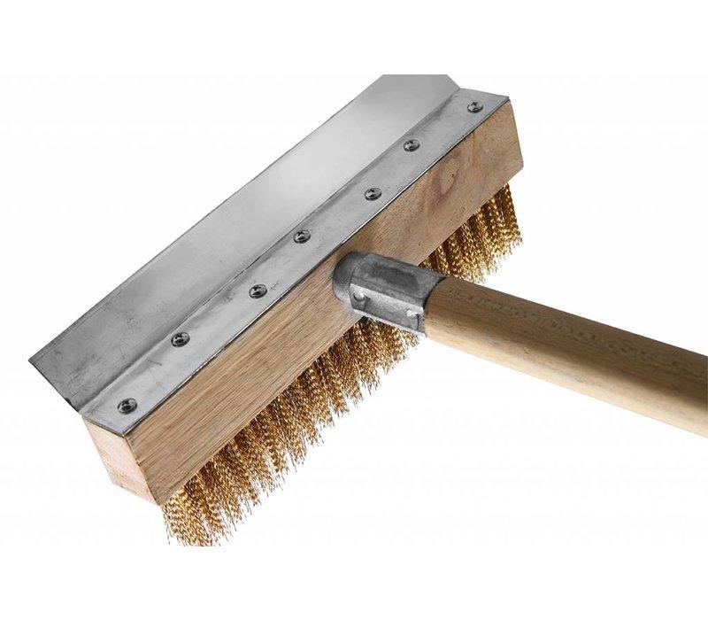 Hendi Cleaning brush 250x1030 mm - brass timber holder + handle