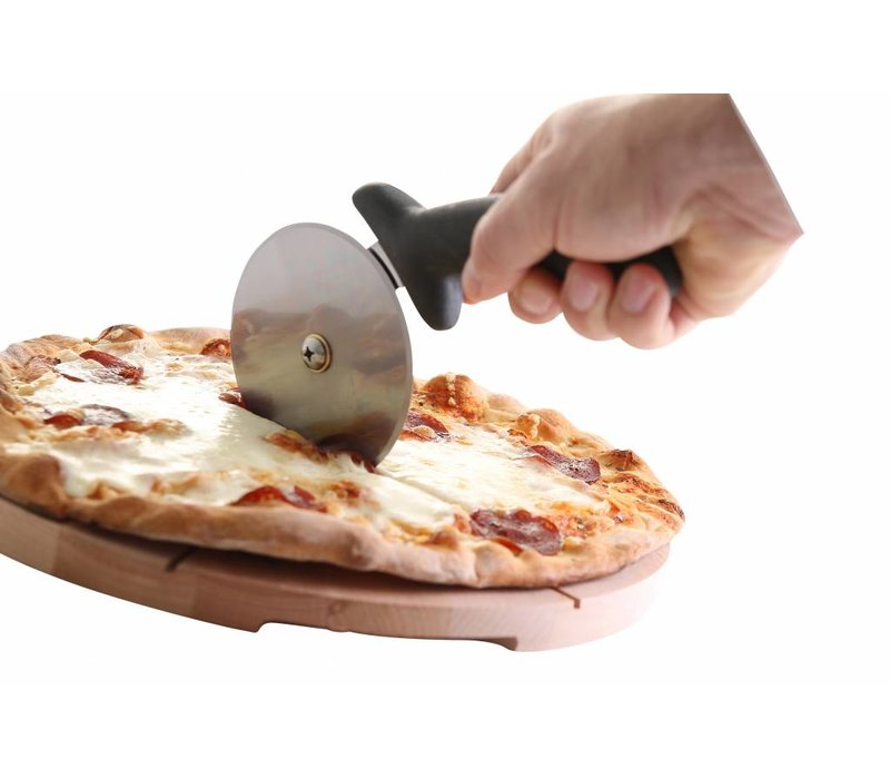 Hendi Pizza Cutter stainless steel - Dishwasher safe - Black PP handle - Ø100x230 mm