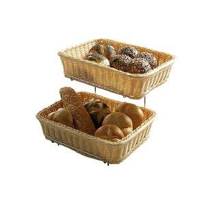 Hendi Breadbasket rectangular - Reinforced PP Rattan - GN 1/2 - Set 2 - 360x280x (H) 90mm
