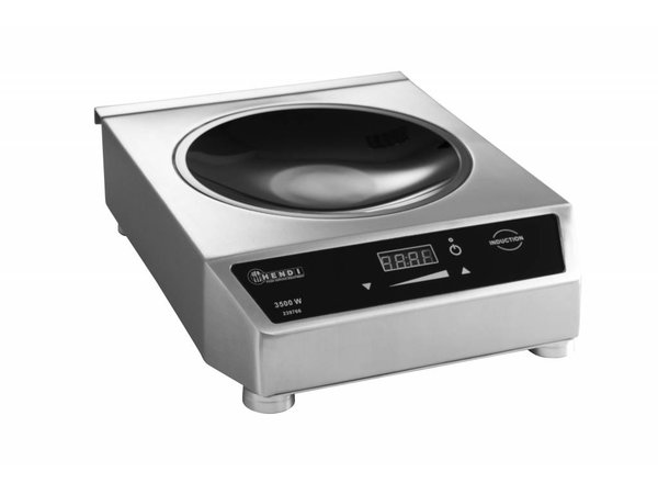 Hendi Inductie wok digitaal Inclusief Wokpan - 34x45x(h)12 - 3500W/230V
