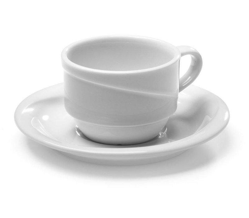 Hendi Cappuccinokop - 230ml - Exclusiv - Wit - Porselein