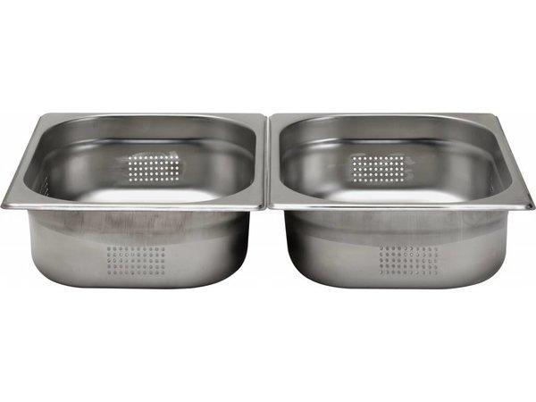 Hendi Gastronormbak RVS 1/2 - 100 mm   Geperforeerd   325x265mm