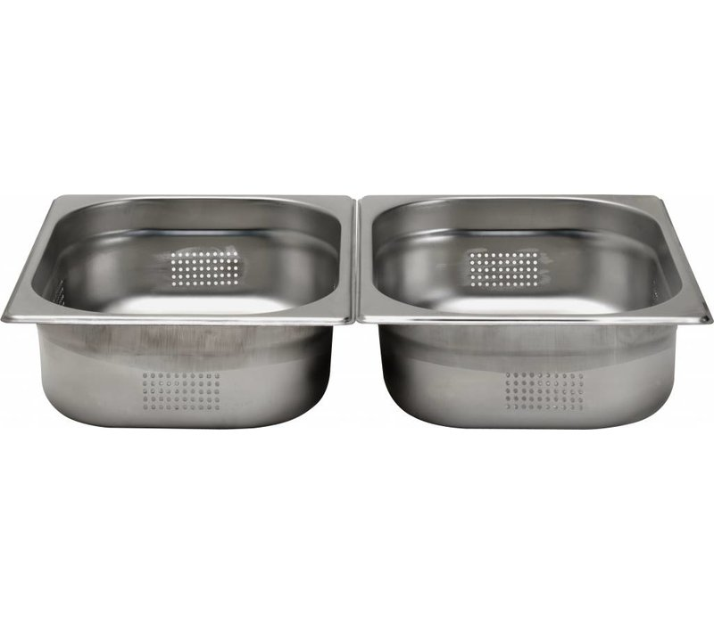 Hendi Gastronormbak RVS 1/2 - 100 mm | Perforated | 325x265mm
