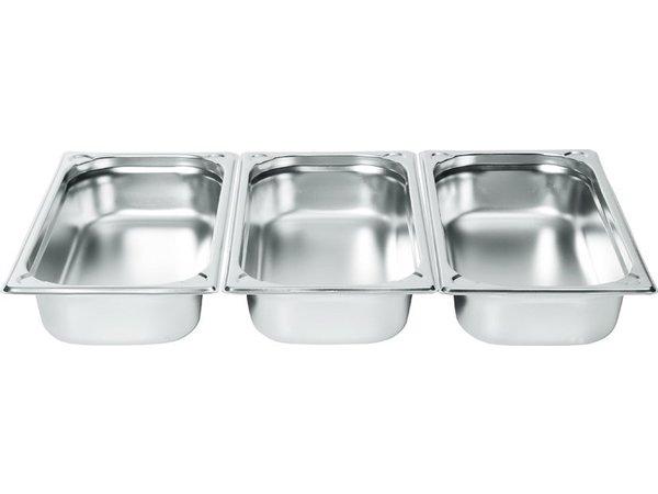 Hendi Gastronormbak RVS 1/3 - 20 mm | 325x176mm
