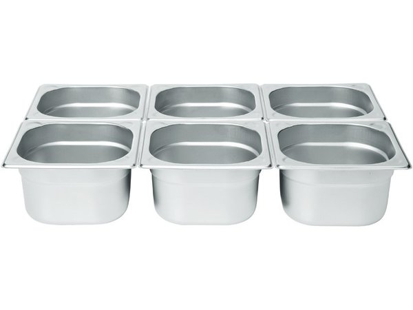 Hendi Gastronormbak RVS 1/6 - 200 mm | 176x162mm