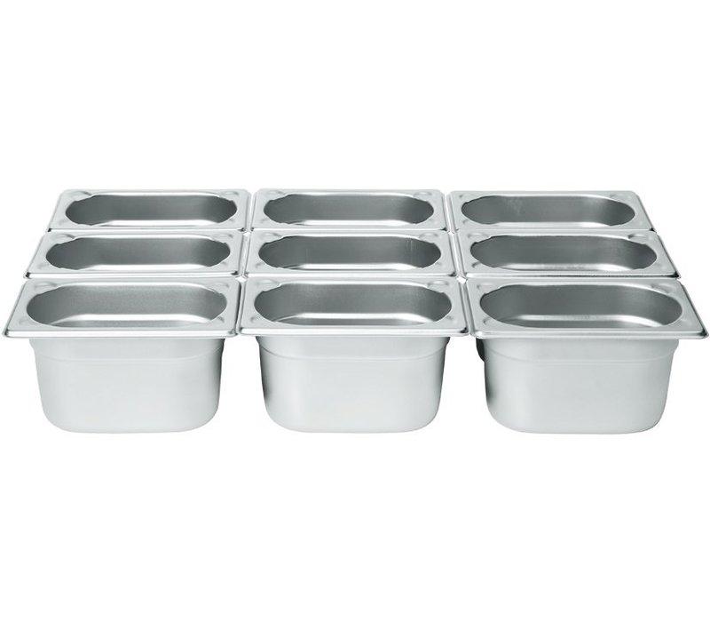 Hendi Gastronormbak RVS 1/9 - 100 mm | 108x176mm