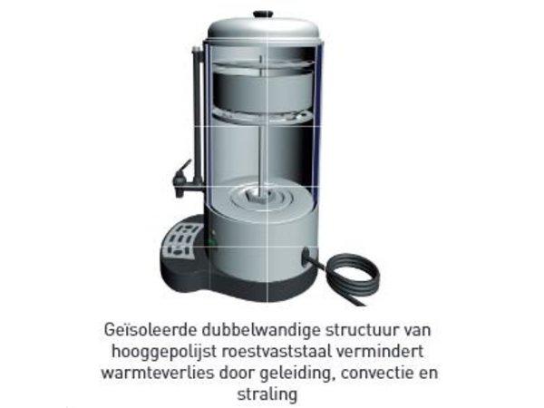 Hendi Percolator RVS Dubbelwandig | Met Kopjesstandaard | Ø241x(H)480mm | 40 Kopjes | 6 Liter