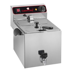 Caterchef Fryer with drain valve | 9 Liter | 3,25kW | 280x530x (H) 350mm