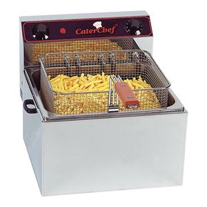 Caterchef Fritteuse | 10 Liter | 6 kW | 400V | 370x430x (H) 290mm | XXL ANGEBOT