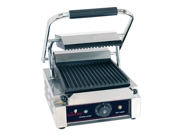 Caterchef Kontaktgrill Catering | Mit / ohne Rippen | 290x400x210 (h) | 1800W