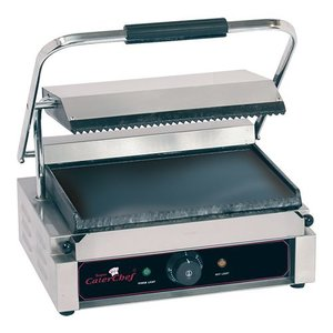 Caterchef Horeca Contact Grill | Solo Grande Ribbed / Smooth | 410x400x (h) 210 | 2200W