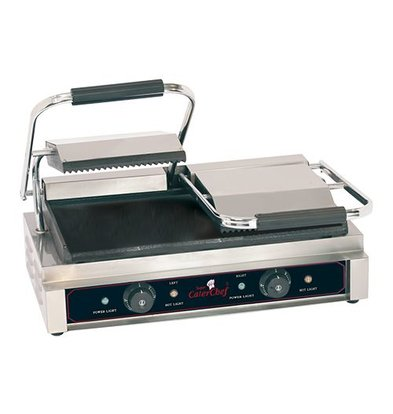Caterchef Contact Grill Compact Double Ribbed / Smooth - 57x40x21 (h) - 3600W