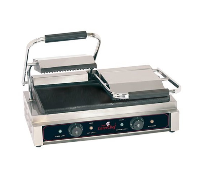 Caterchef Kontaktgrill Compact Doppelrippen / Smooth - 57x40x21 (h) - 3600W