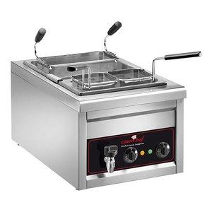 Caterchef Pasta Cooking Appliance | 25 liter | Inc. three baskets | 3200W | 230V | 400x700x (H) 340mm