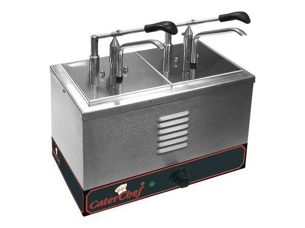 Caterchef Bain-Marie Sauce Dispenser 2 x 1/6 GN + Dispensers