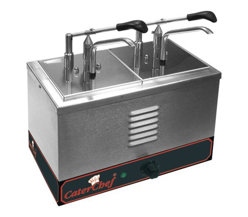 Caterchef Bain-Marie Soßenspender 2 x 1/6 GN + Dispenser