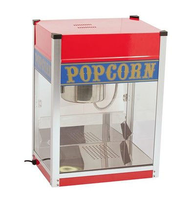Caterchef Popcorn Machine | RVS | 1.5kW | met Verlichting | Vet Opvangbak | 520x380x(H)690mm