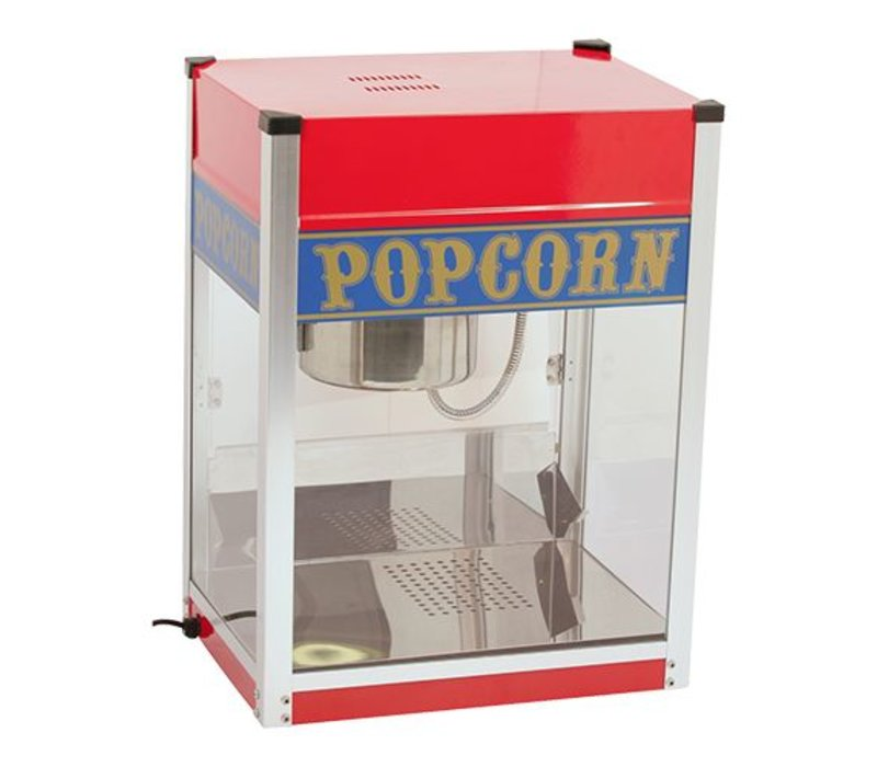 Caterchef Popcorn Machine   Stainless steel   1.5kW   with lighting   Fat Tray   520x380x (H) 690mm